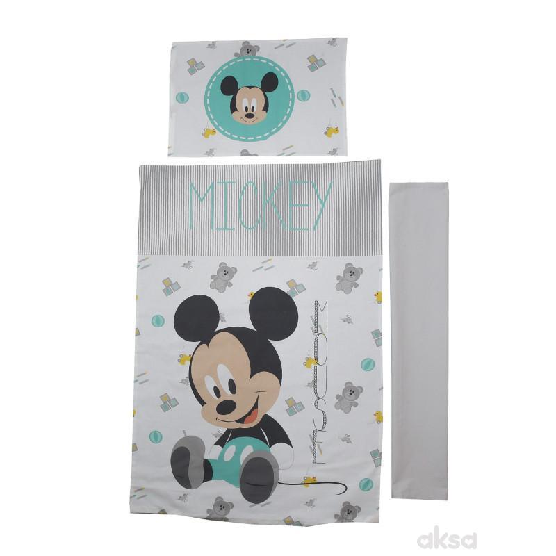 Stefan posteljina navlaka Mickey 3/1,80x110CM