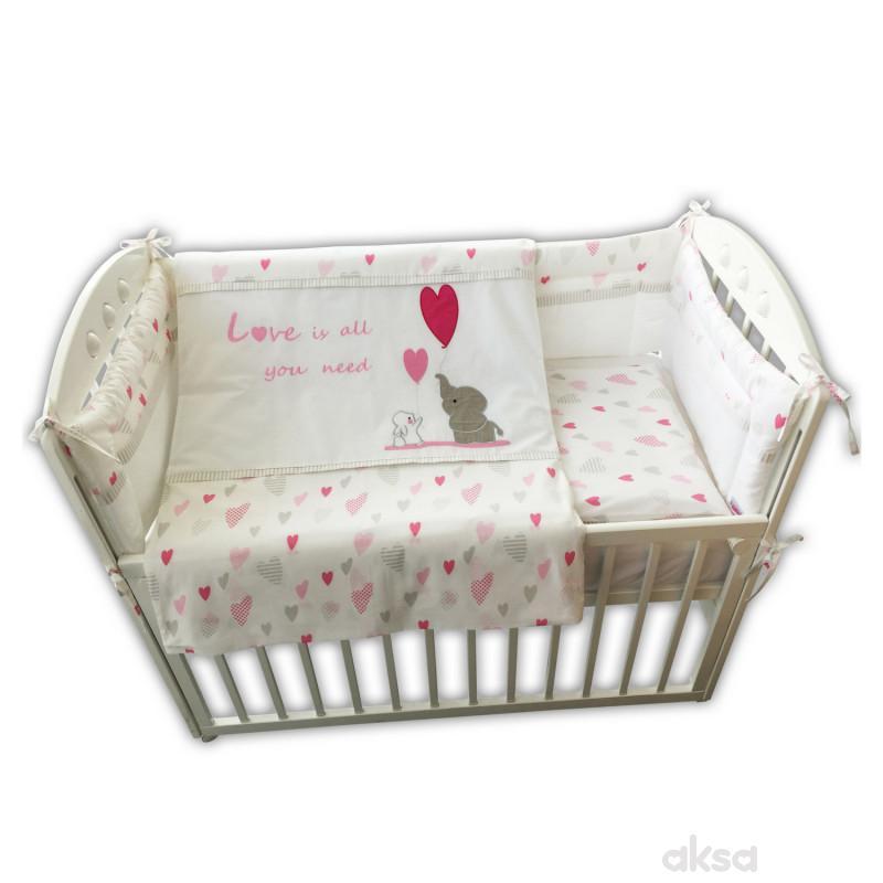 Baby Textil posteljina Slon i Zeka,6/1,80x120CM