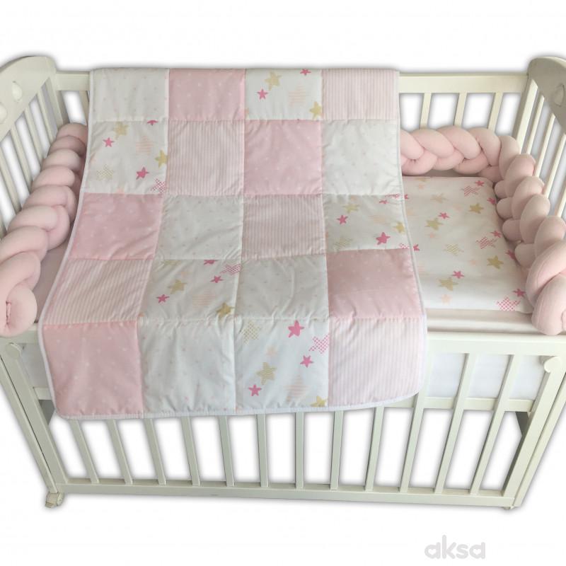 Baby Textil posteljina Pletenica 6/1,80x120CM