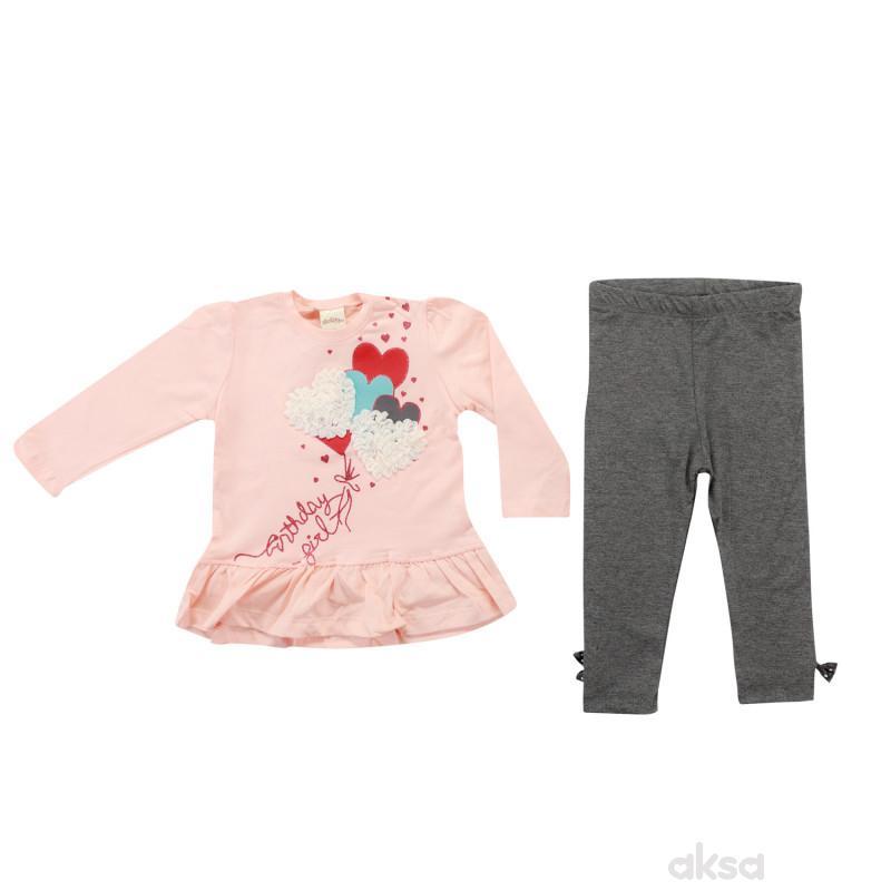 Lillo&Pippo komplet(majica,helanke),devojčice