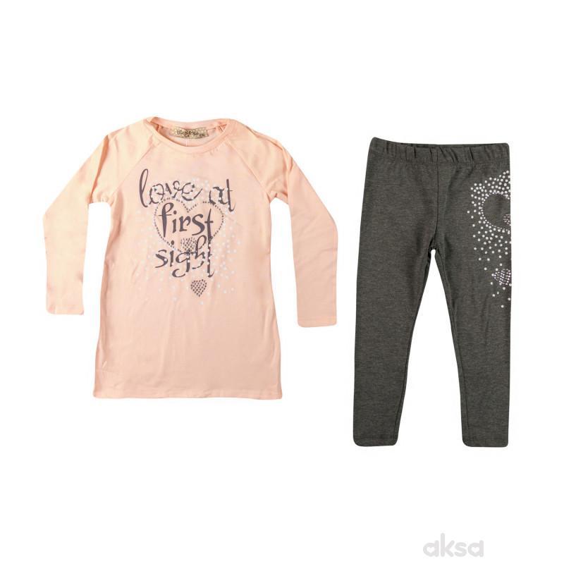 Lillo&Pippo komplet(majica dr,helanke),devojčice