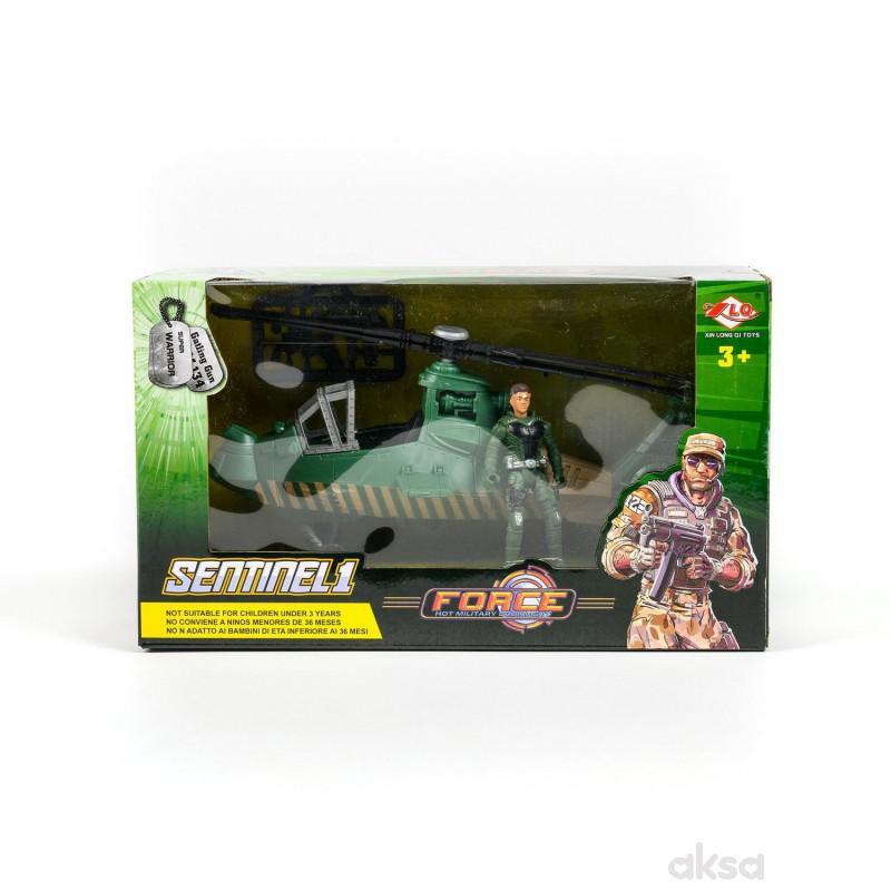 Hk mini igračka, operativni helikopter sa vojnikom