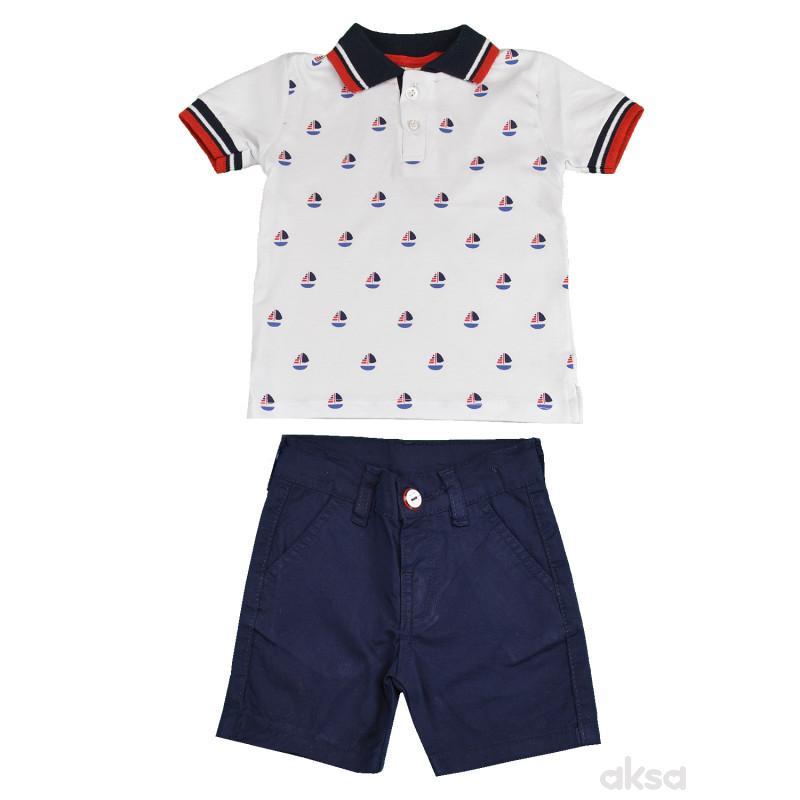 Lillo&Pippo komplet(polo majica i bermude),dečaci