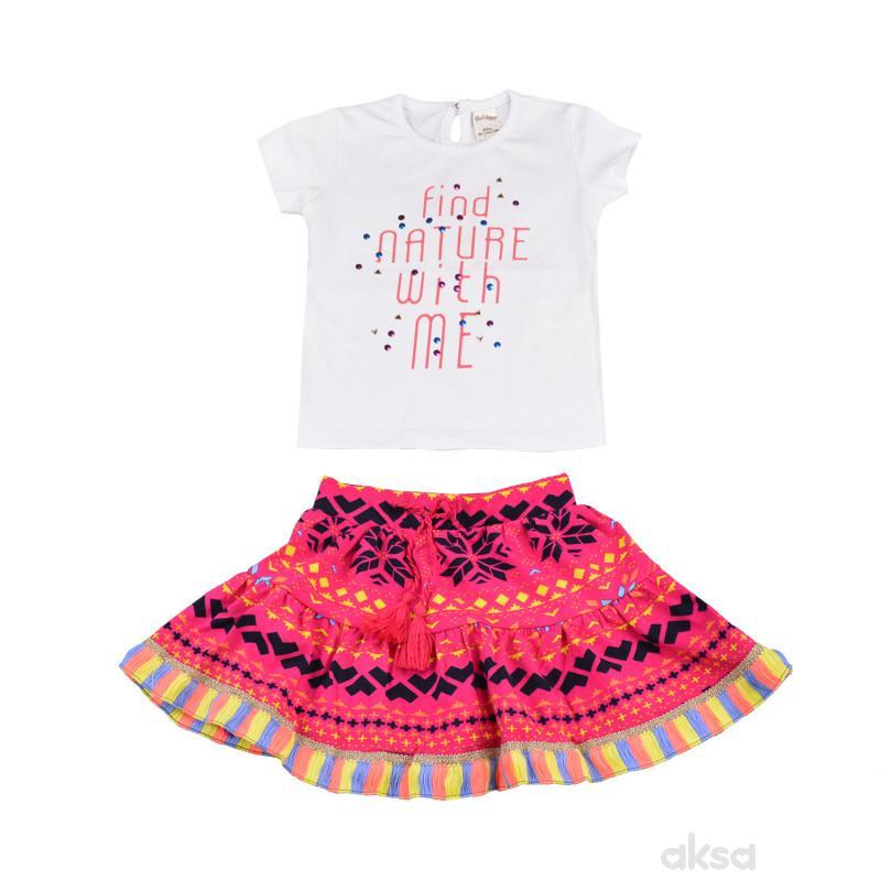 Lillo&Pippo komplet(majica i suknja),devojčice