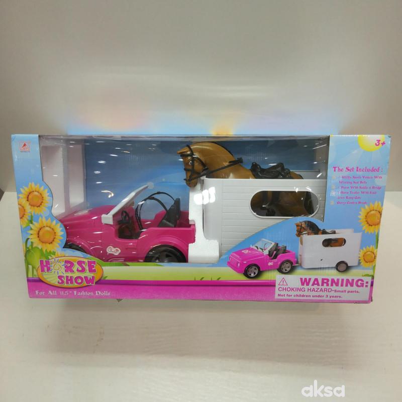 Hk mini igračka, džip sa prikolicom hipodrom
