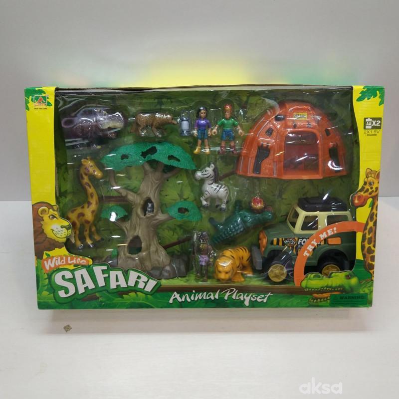 Hk mi igračka, safari set sa džipom