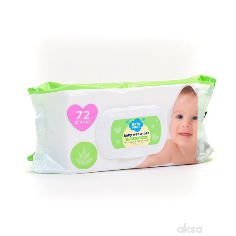 Baby spa vlažne maramice cream sa aloe verom 72kom