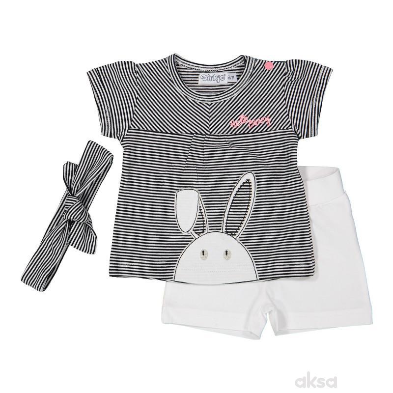 Dirkje komplet (majica kr,šorts i traka),devojčice