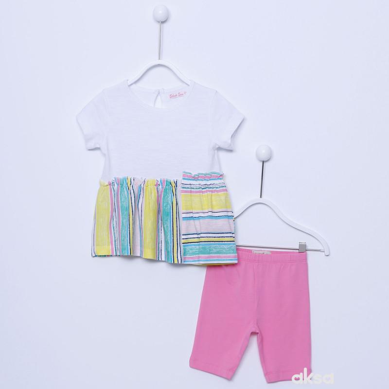 SilverSun komplet(majica kr i helanke),devojčice
