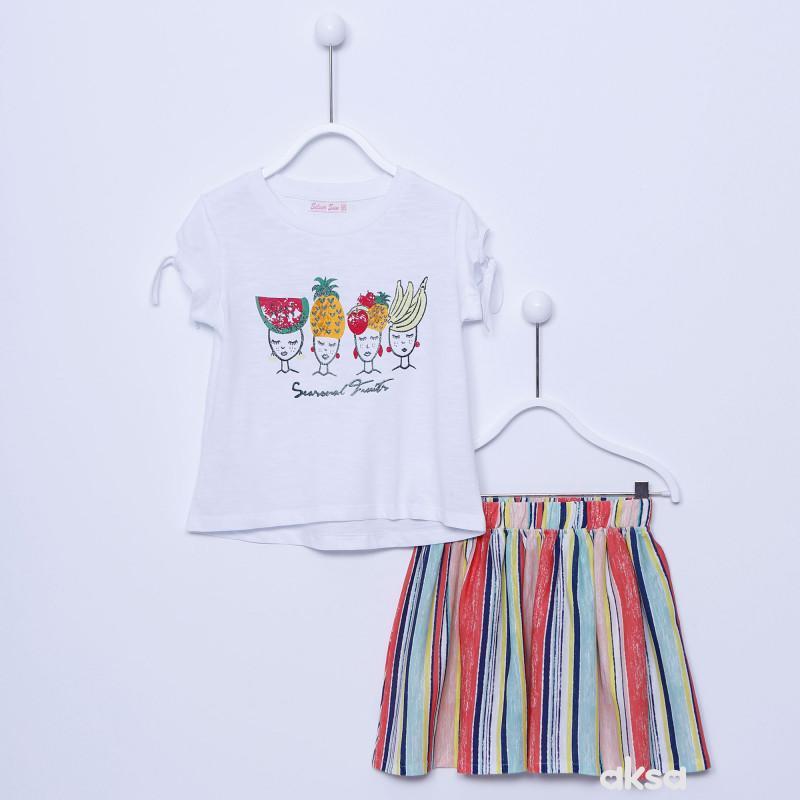SilverSun komplet(majica kr i suknja),devojčice