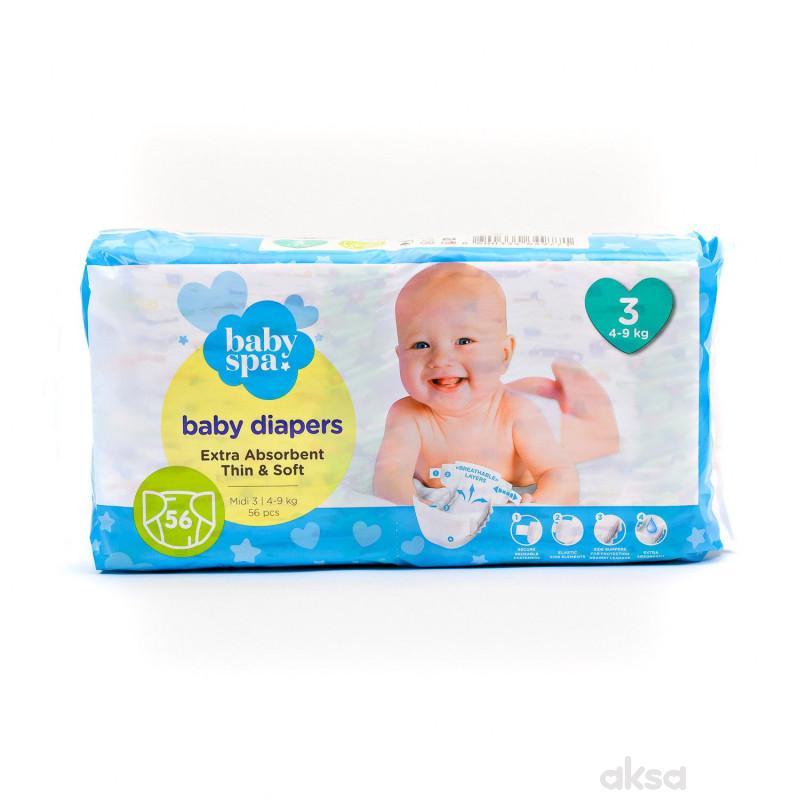 Baby spa pelene 3 midi 4-9kg 56kom