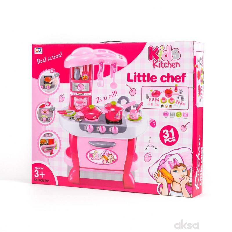 Qunsheng Toys, igračka kuhinjski set pink
