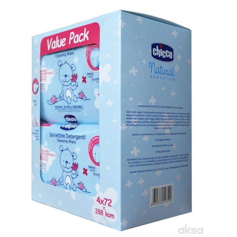 Chicco ns vlažne maramice 4-pack 288kom