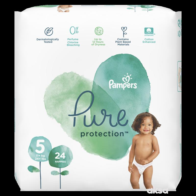 Pampers pure VP 5 junior 11kg+ 24kom