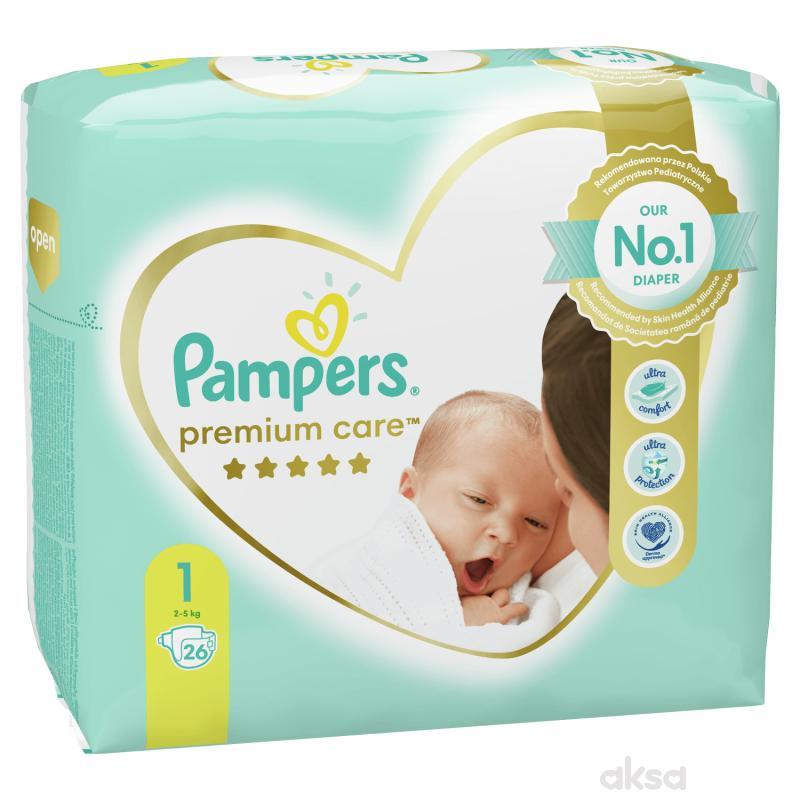 Pampers pelene premium care RP 1 newb 2-5kg 26kom