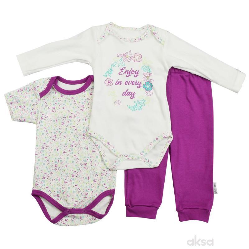 Lillo&Pippo bebi komplet 3/1,devojčice
