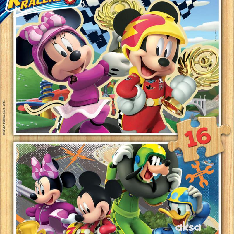 Educa slagalica Mickey 2 x 16 delova