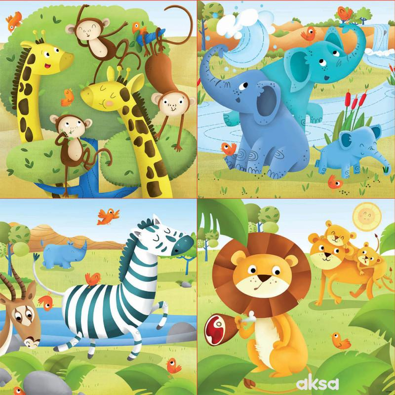 Educa slagalica 4 vrste, divlje životinje