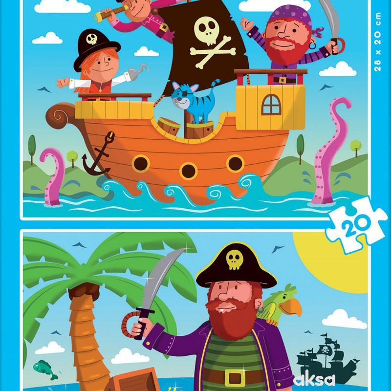 Educa slagalica Pirati 2 x 16 delova