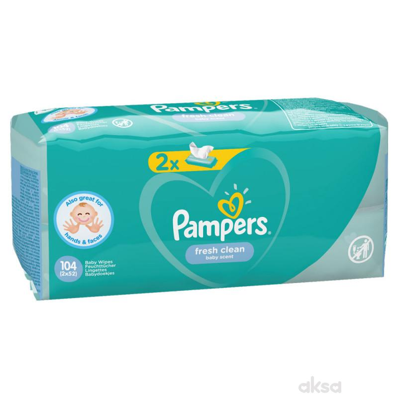 Pampers baby vlažne maramice fresh 2x52kom