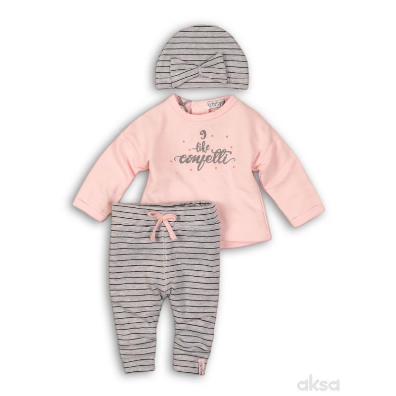 Dirkje komplet(majica dr, donji deo i kapa),devojč