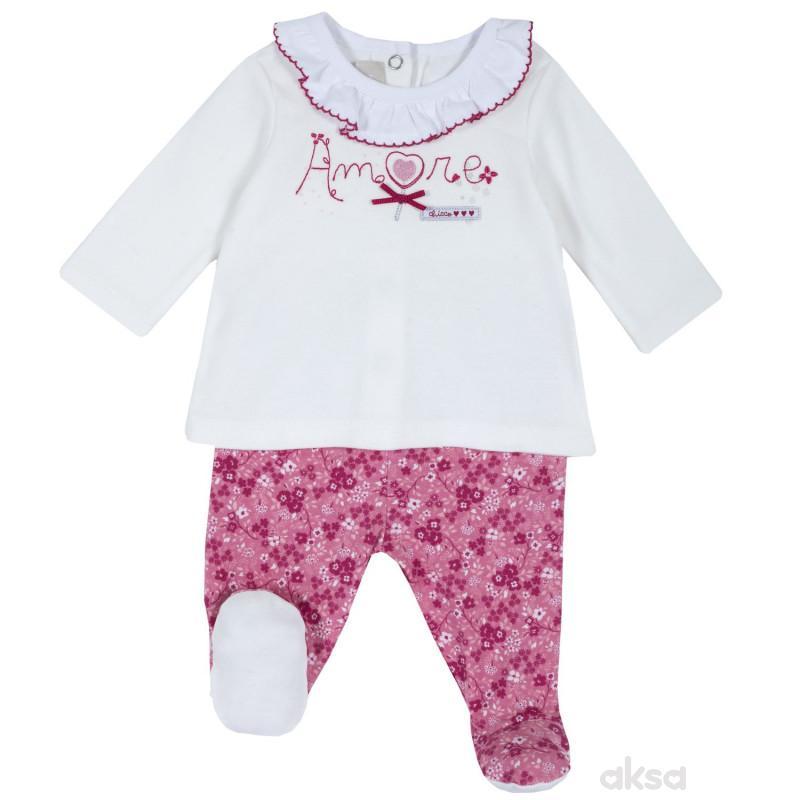 Chicco komplet(majica d.r.+donji deo)devojčice