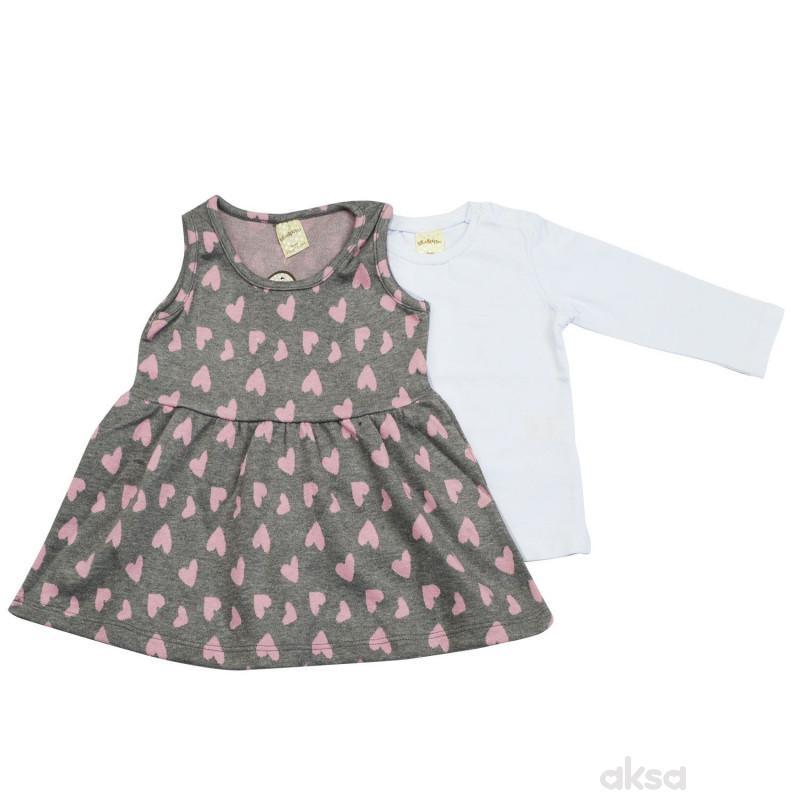 Lillo&Pippo komplet(haljina,majica dr) ,devojčice