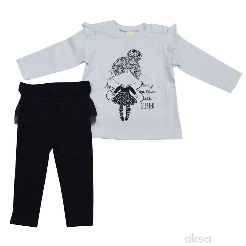 Lillo&Pippo komplet (majica i helanke) ,devojčice