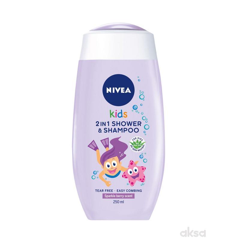 Nivea šampon i kupka za devojčice 250ml