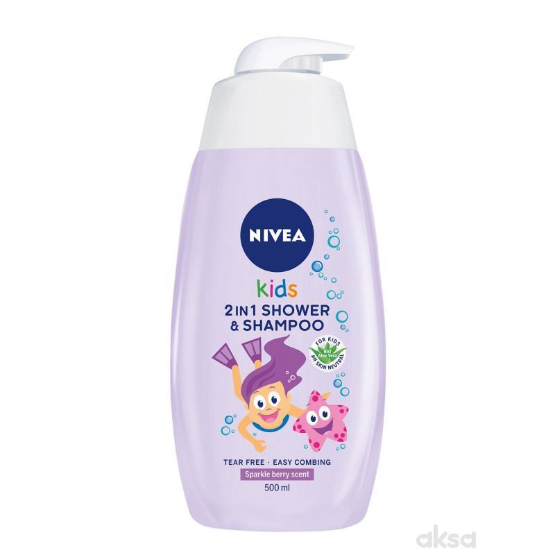 Nivea šampon i kupka za devojčic sa pumpicom 500ml