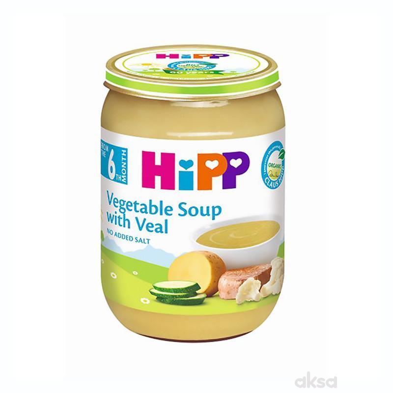 Hipp kašica BIO Supa od povrća sa teletinom 190g