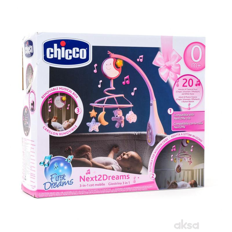 Chicco Next2Dreams vrteska roze