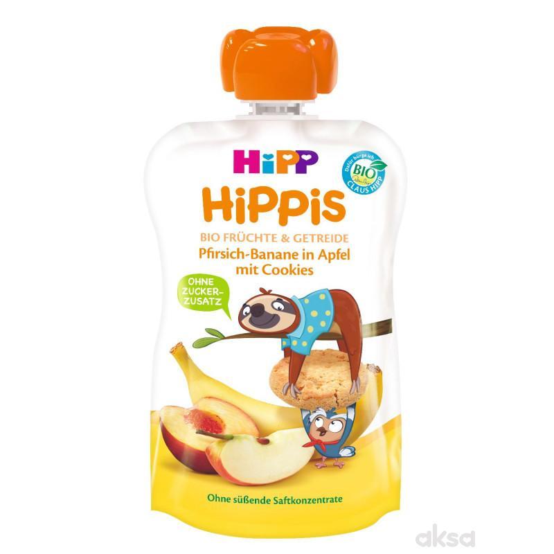 Hipp pouch jabuka,banana i breskva sa keksom 100g
