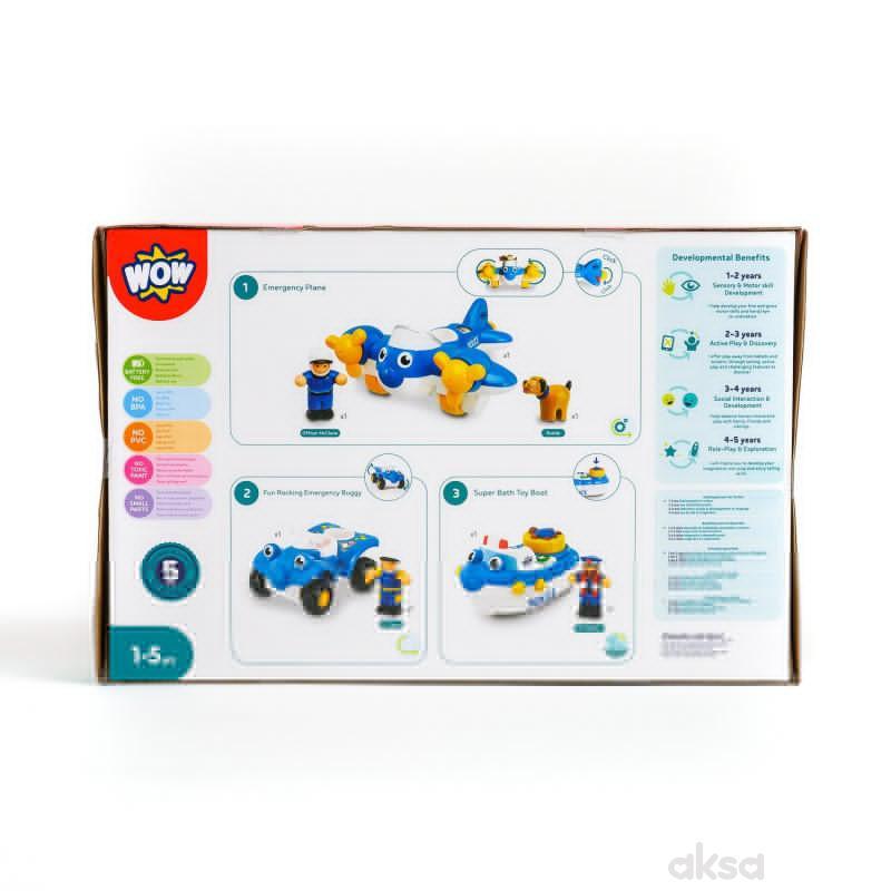Wow igračka set 3u1 policija
