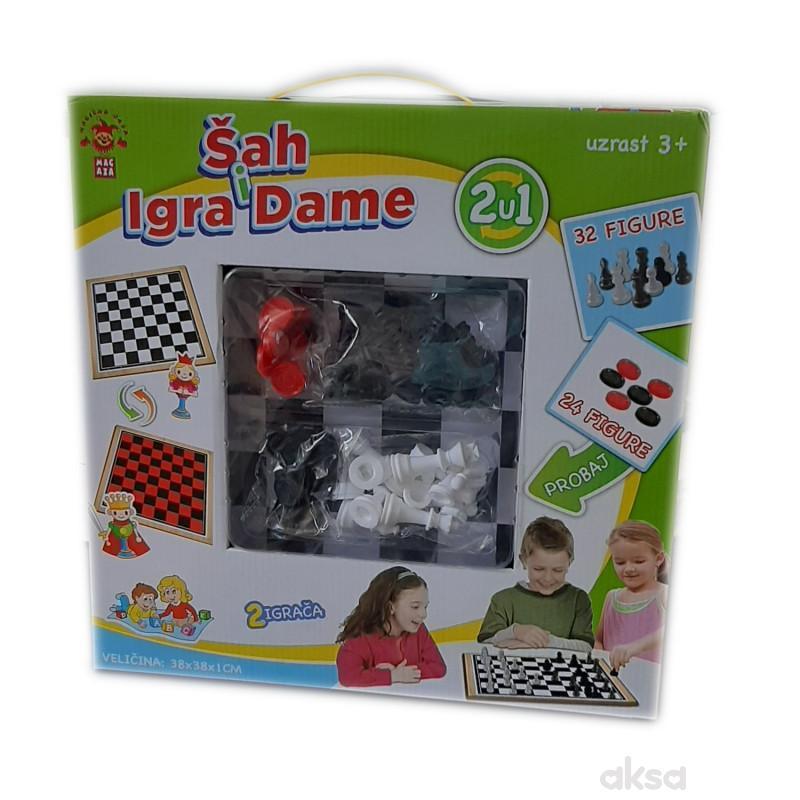 Društvena Igra Sr 2U1 Sah & Igra Dame