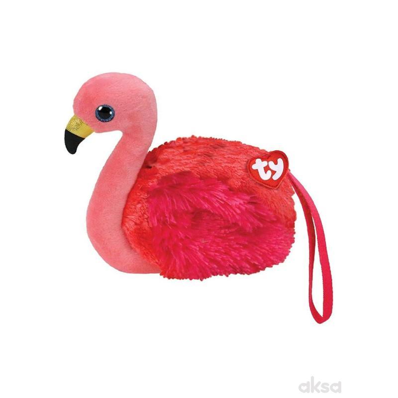 Ty Plisana Tasna Flamingo  10.2X12.7X1cm