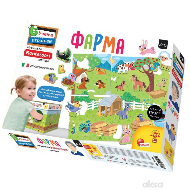 Lisciani Montessori Sr Edukativna Igra Farma