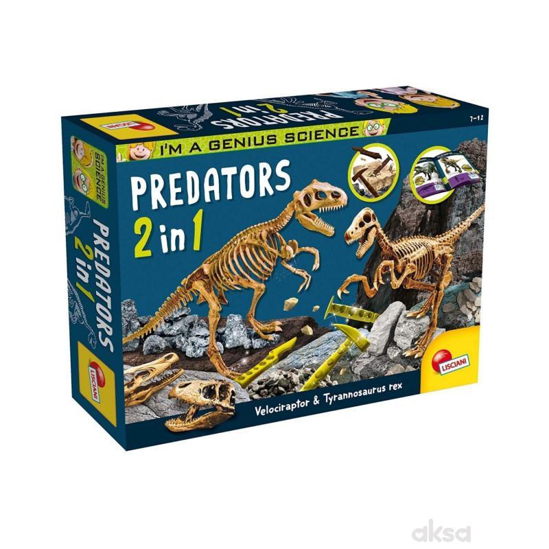 Lisciani Mali Genije Predatori Set 2 u 1