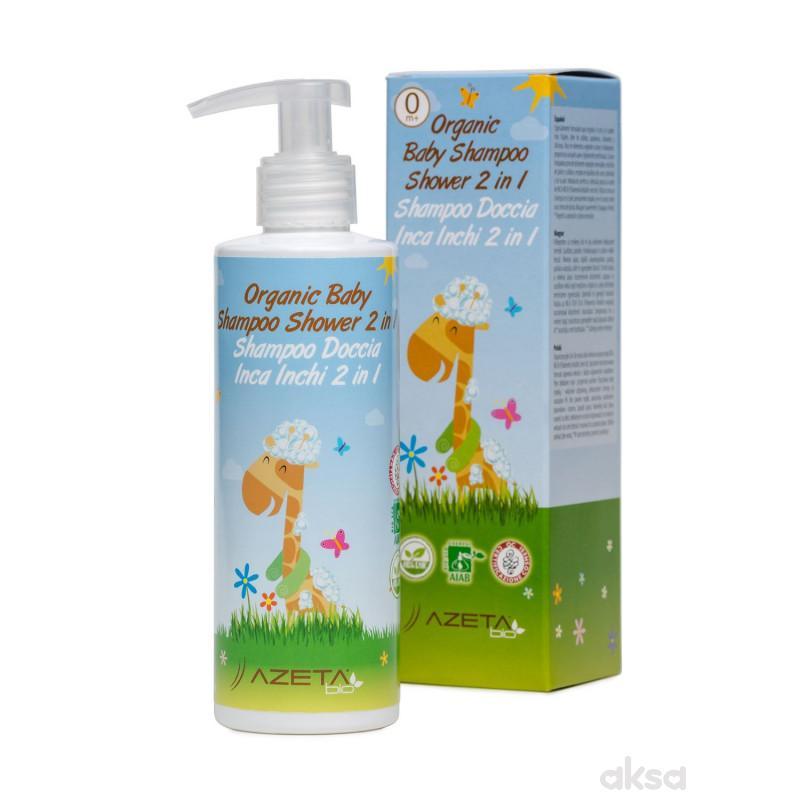 Azeta Bio baby organski šampon i kupka 2u1 200ml