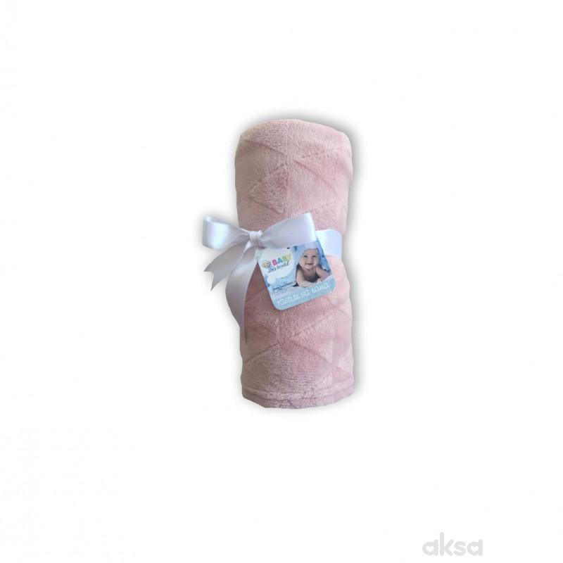 Baby Textil ćebe Klara,80x90,roze