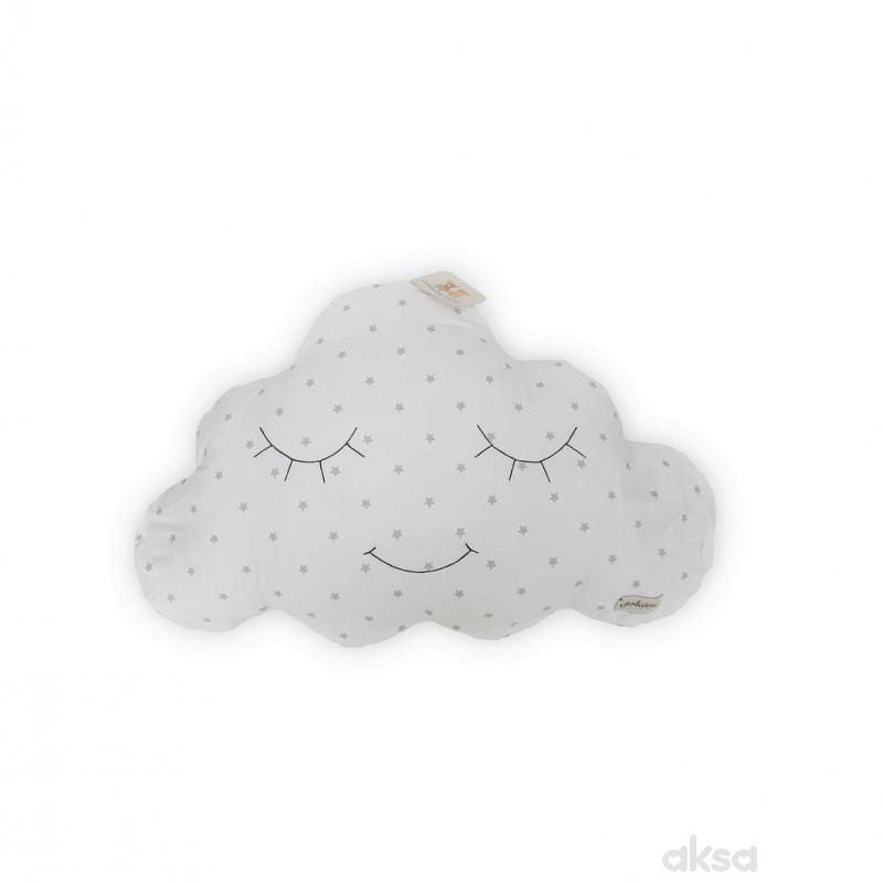 Lillo&Pippo ukrasni jastuk Oblak,siva
