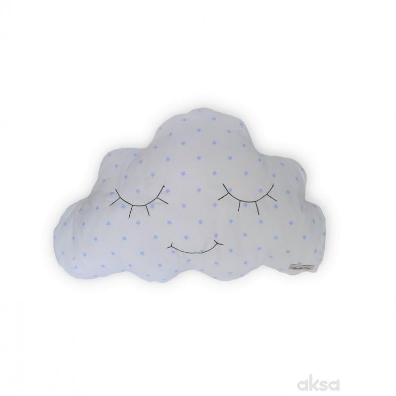 Lillo&Pippo ukrasni jastuk Oblak,plava