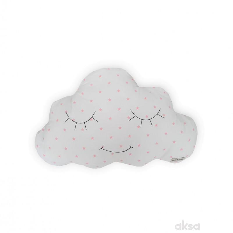 Lillo&Pippo ukrasni jastuk Oblak,roze