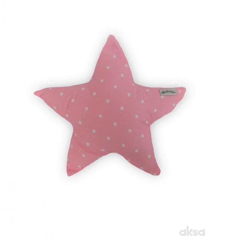 Lillo&Pippo ukrasni jastuk Zvezda,roze