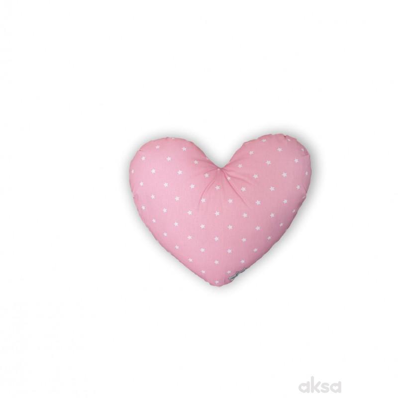 Lillo&Pippo ukrasni jastuk Srce,roze