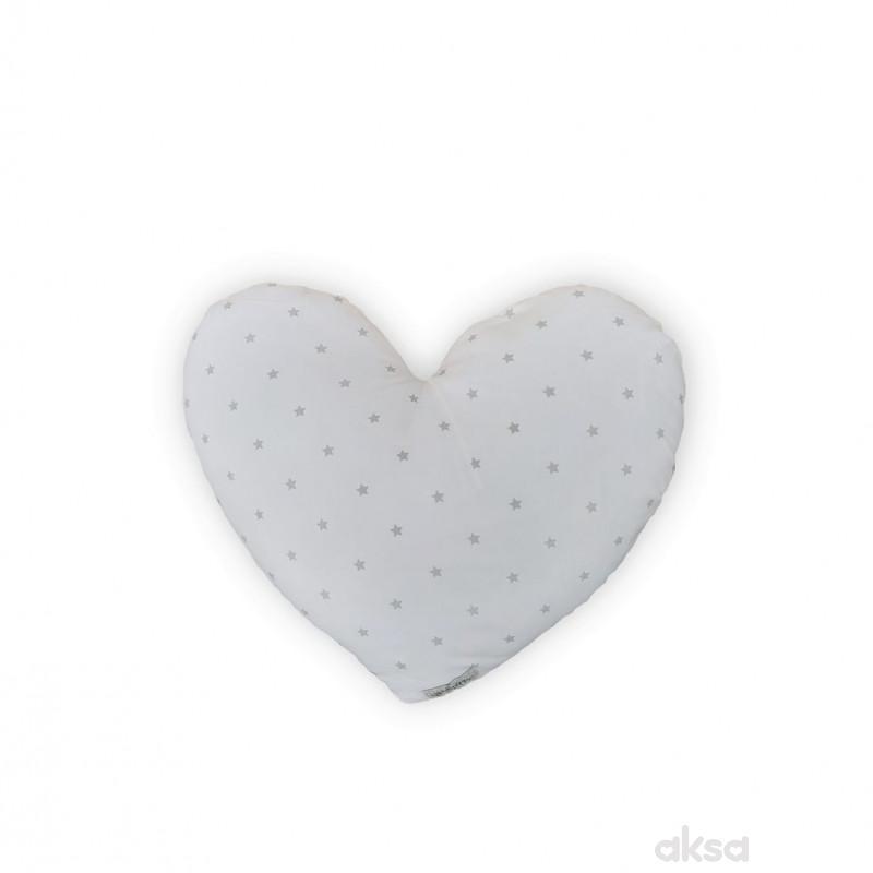 Lillo&Pippo ukrasni jastuk Srce,siva
