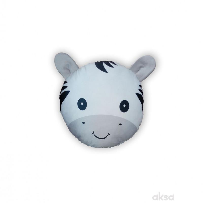 Lillo&Pippo ukrasni jastuk Animals,siva