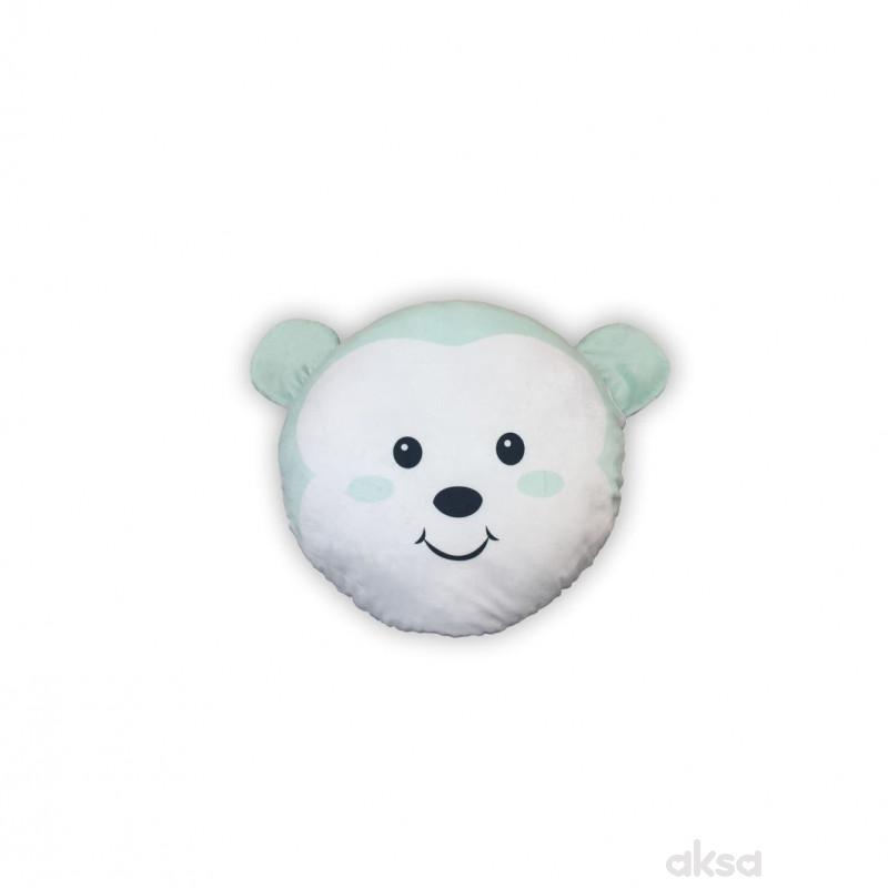 Lillo&Pippo ukrasni jastuk Animals,plava
