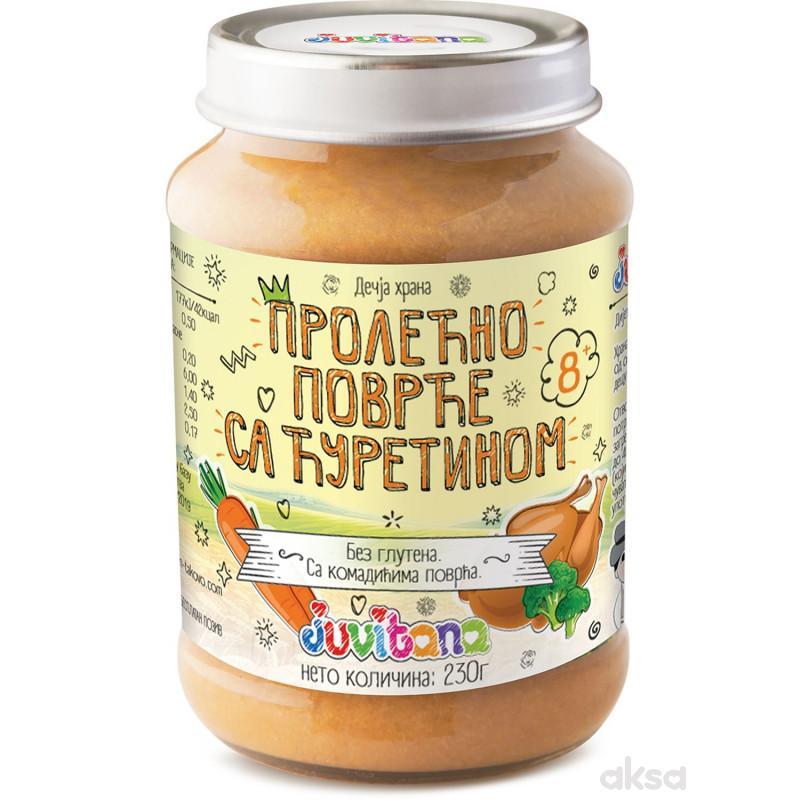 Juvitana kašica prolećno povrće sa ćuretinom 230g