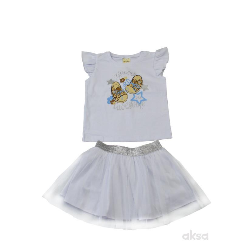 Lillo&Pippo komplet(majica i suknja)devojčice